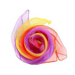 La impresión de logotipo personalizado de 24 pulgadas 12pzas plaza de seda de Malabarismo bufandas de danza para el juego creativo espectáculo de magia