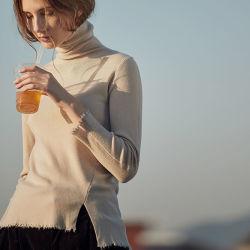 최고 과료 모직 스웨터를 가진 겨울 자라목 스웨터 스웨터