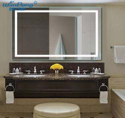 Hochwertige einfache Stil Wand montiert Smart LED Spiegel für Haus/Hotel Badezimmer Dekoration