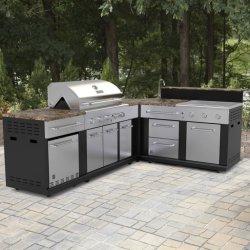 De openlucht BBQ van het Aluminium Roestvrije Keuken Cabient van de Grill voor Outsides