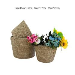 حلو الحلو الحلو الحلو نمط النورديك الزرع الزهور الزهور Hydroponic سلة القش