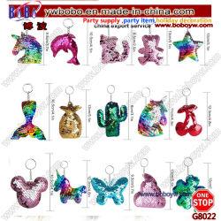 Мода конструкций Блестящие цветные лаки пайетками Keyring цепочки ключей женщин Bag Trinket Cute подарок свадебный подарок (G8021)