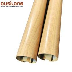 Grãos de madeira em forma o tubo redondo Faixa Linear Forro cobrindo decorativas