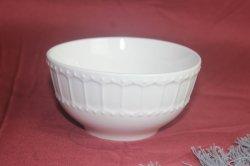 Restaurante barato al por mayor relieve de cerámica Cuenco de Arroz con fideos de porcelana