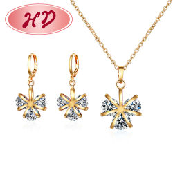 Conjunto de joyas de moda señoras 2 gramo Conjunto de joyas collar de oro