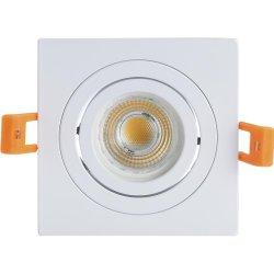Alumínio Hot-Sales GU10 MR16 Inclinação Quadrados Farolete baixar as luzes de LED com Reentrância