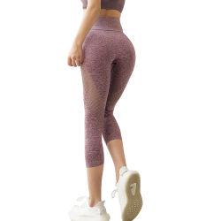 Pantalon de Yoga européens et américains de façon transparente les femmes des jambières de remise en forme de sport