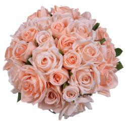 줄기를 가진 인공적인 장미는 꽃꽃이 및 가정 훈장을%s 장미를 Wedding 실크 장미 우단 장미를 연다