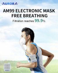 KN95 N95 intelligente elektrische Respirator-Filter-Gesichtsmaske-bewegliche Schablonen-tragbarer Luft-Reinigungsapparat