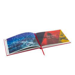 비코팅 종이 전체 컬러 브로셔 카탈로그 하드백 도서 인쇄 Varnish 사용