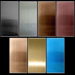 لون مطلي من الفولاذ المقاوم للصدأ للديكور المعماري