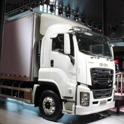 Bom preço motor Isuzu Giga 18ton 350HP Van de carga a carga do veículo