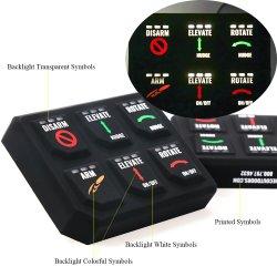 電子ねじ印刷バックライト付きシリコンゴム製メンブレンキーボード