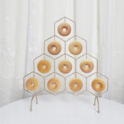 La cocción de postre de anillos de boda Expositor anillos decoración estanterías