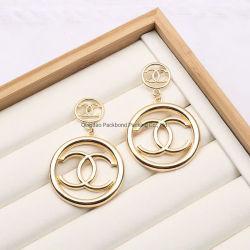 Marque célèbre designer Lettre Gg Cc Crystal Rhinestone Hoop Earrings Necklace
