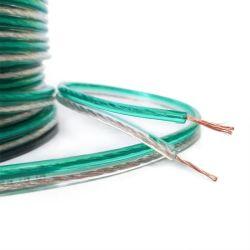 Cuivre nu hi-fi isolation PVC 14 AWG câble haut-parleur clair