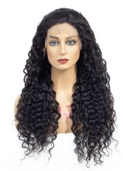 中国工場水波自然な人の毛のレース Wig