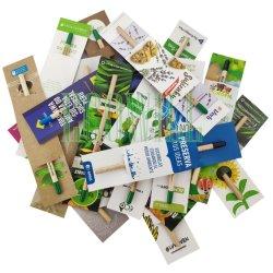 Eco friendly Plantable fábrica de lápices de semillas con semillas y personalizar la tarjeta de papel