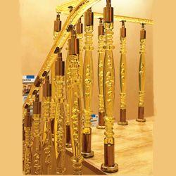 A qualidade do produto delicado design Crystal Clear Balaustradas Acrílico Corrimão da escada Corrimão