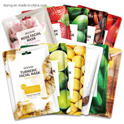 11 Types de soins de la peau d'avivage Mascarillas fraise miel Tumeric Face Feuille Plante le lissage de fruits de masque hydratant masque facial de beauté