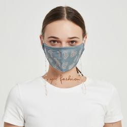 패션 도매 가격 레오파드 레이디스 마스크 라인스톤