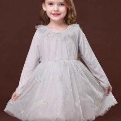 Novo no Outono de desgaste, tricotadas Princess bata com mangas compridas, vestido de festa de aniversário de alta qualidade, roupas para crianças. As crianças a desgaste. Vestuário de crianças. Vestuário de crianças