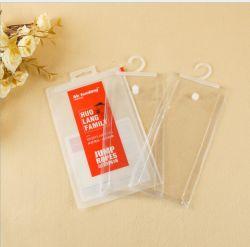 Transparente weiche Kleid-Unterwäsche-Kleidung des PlastikPVC/EVA, die Beutel mit Haken-Aufhängung verpackt
