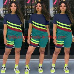 Versione coreana di usura di estate delle donne casuali degli abiti sportivi di Più-Formato la nuova della maglietta allentata mette l'insieme in cortocircuito a due pezzi di modo, vestito