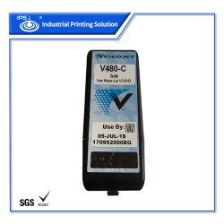 طابعة Videojet Cij Inkjet سعة 750 مل حبر أسود صبغي V489-C لـ Vj1710 متوافق مع شهادة MSDS RoHS