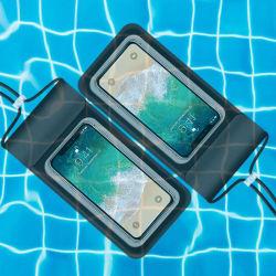 Bajo el agua resistente al agua Universal bolsa seca teléfono celular con pantalla táctil móvil sellado de bolsas de agua de PVC/caso Deportes
