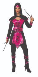 Ninja Kostüme der Halloween-Frauen Wholesale rosafarbenes Drache-Hemd und Hosen