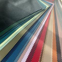 En cuir gaufré holographique ondulée PU tissu des feuilles métalliques en simili-cuir irisé de feuilles d'artisanat