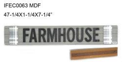 목재로 이루어진 홈 장식, 농가 표지판