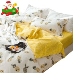 Los cuatro conjuntos de ropa de cama de inicio personalizada 100% Algodón Sábana, cubierta de la Manta, ropa de cama con funda de almohada