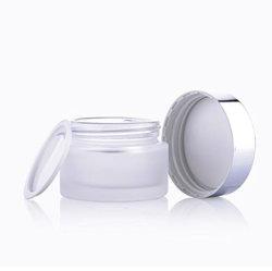 Elegante Embalagem Cosméticos 30g vaso de vidro fosco boião de creme loção plástico acrílico