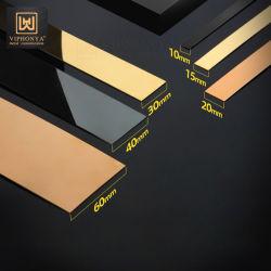 ألواح من الفولاذ المقاوم للصدأ لامعة من الألواح المعدنية للحائط المسطحة
