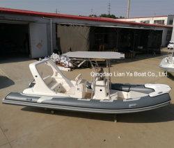 Liya 20'/PVC Hypalon barco de casco rígido bote hinchable China