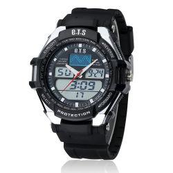 À la mode Double mouvement quartz numérique analogique montre-bracelet pour hommes (JY-SD805D)