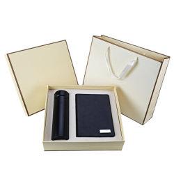 Frasco de aço inoxidável para notebook de couro Dom Vácuo definido