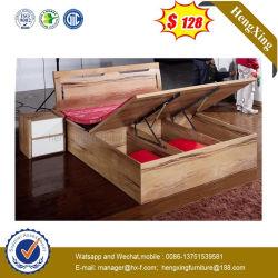 Chambre à coucher Mobilier de maison de mélamine moderne hôtel Lit en bois (HX-WL010)