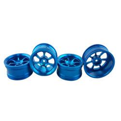 青いカラー電気スクーターのアルミ合金の車輪ハブCNCの機械化の車輪ハブ