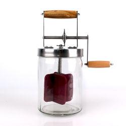 De nieuwe Grote Capaciteit van het Ontwerp Kruik van de Boterkarnton van het Glas van de Hand van 1 Liter de In het groot