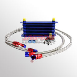 Voiture de course de pièces du kit de refroidisseur d'huile de transmission du moteur à 10 rangs