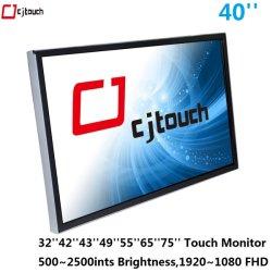 LED LCD 40 pulgadas soportes VESA de pared exterior señalización Publicidad Industrial quiosco Monitor táctil 1000ints