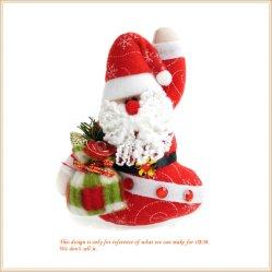 Décoration de noël santa farcies en peluche pour cadeau de poupée