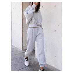La mujer de moda ropa deportiva, Traje de lana tejida, tejer prendas de vestir, ropa deportiva, ropa de deportes