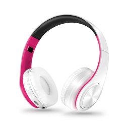 Bt écouteurs sans fil au cours de l'oreille, BT V4.0 Hi-Fi stéréo casque pliable avec micro intégré pour voyager Usingcalling quotidienne