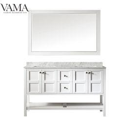 Vama 60 pulgadas de doble tazones de estilo americano, muebles de baño con espejo 713060