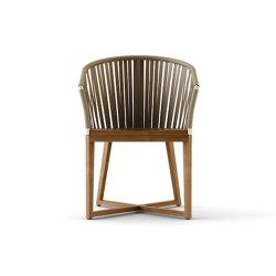 Restaurant de luxe hôtels modernes de l'humeur Outdoor Indoor sangle en teck chaise de salle à manger de corde