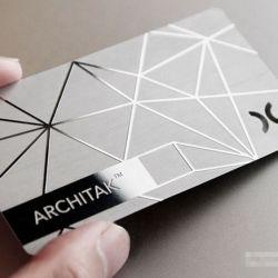 Op maat geanodiseerd aluminium visitekaartje printen